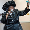 Ella Swain of Dorchester preaches during the tea time event at Greater Bethlehem Temple Pentecostal Church in Lynn on Saturday.