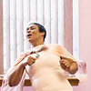 Heather Williams of Lynn dances to the music during the tea time event at Greater Bethlehem Temple Pentecostal Church in Lynn on Saturday.
