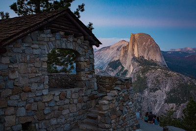 Glacier Point Geology Hut and Half Dome Twilight