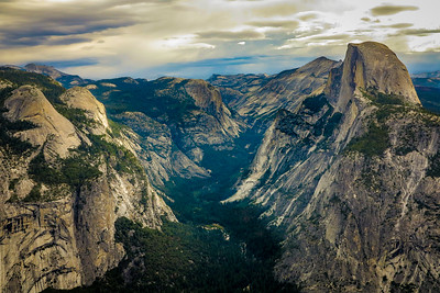 Half Dome and North Dome Anchor Yosemite Valley