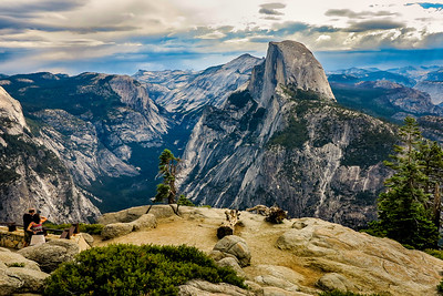 Visitors View Half Dome