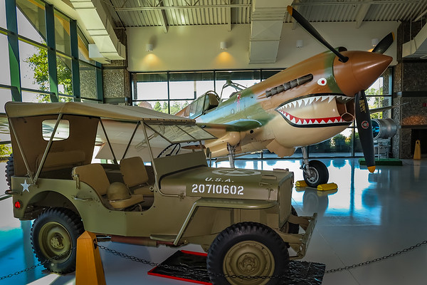 WWII Jeep and P-40 Warhawk