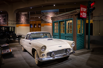1956 Ford Thunderbird at Merrit Parkway Tollbooth