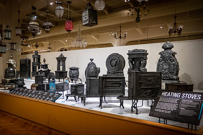 Fully Furnished Exhibit - Heating Stoves Late 1800s