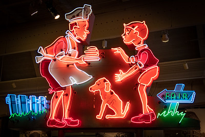 Howard Johnson's Pieman Neon Sign