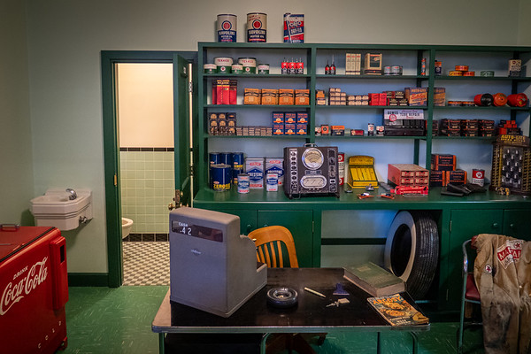 1960s Texaco Service Station Cashier's Desk