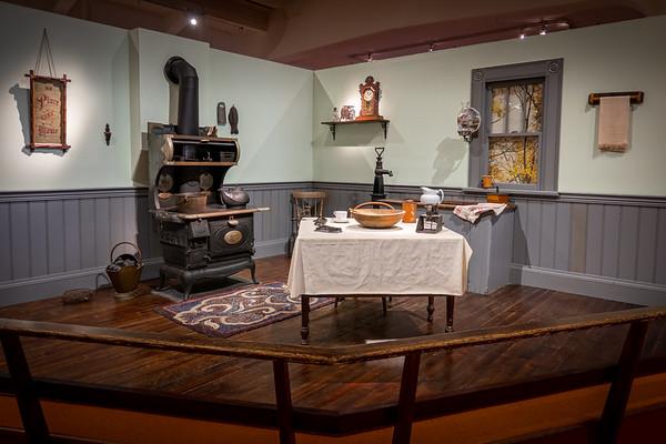 Fully Furnished Exhibit - Kitchen c. 1890