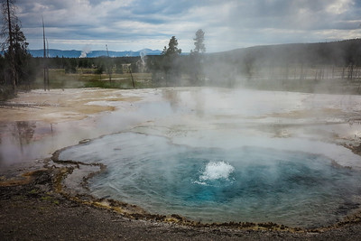 Yellowstone Geothermal Pool Percolating