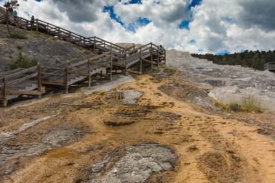 Mammoth Hot Springs Terraces and Boardwalk