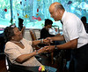 "Wayne Briggs dances with Marie Hodges at the Edgehill Nursing and Rehabilitation Center ""Senior Prom"" June 19, 2015.<br /> Bob Raines--Montgomery Media"