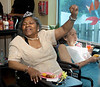 "Marie Hodges enjoys the music at the Edgehill Nursing and Rehabilitation Center ""Senior Prom"" June 19, 2015.<br /> Bob Raines--Montgomery Media"