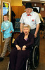 "Connie Izzo goes for a drive with her beau, Harvey Kimmey at the Edgehill Nursing and Rehabilitation Center ""Senior Prom"" June 19, 2015.<br /> Bob Raines--Montgomery Media"