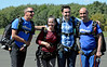 Laughter and excitement filled Maggie &  Eric and their instructors before they stepped on the plane. Photo by Debby High