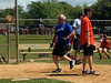 Upper Dublin police Officer Andy Bochanski crosses home plate during the annual Hometown Heroes softball game against the Fort Washington Fire Company Aug. 24. Montgomery Media staff photo / ERIC DEVLIN