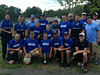 The Upper Dublin police department softball team poses with the Hometown Heroes softball game trophy after beating the Fort Washington Fire Company by a score of 11 to 7 Aug. 24. Montgomery Media staff photo / ERIC DEVLIN