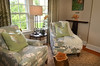 A sitting area in the guest cottage at the Bucks County Designer House.   Tuesday, April 22, 2014.    Photo by Geoff Patton