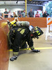 Wissahickon Fire Company firefighter campers make their way through a rescue simulation maze inside the station July 29. Montgomery Media staff photo / ERIC DEVLIN