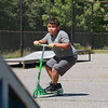 Nathan Ribeiro, 6, of Leominster tried out his scooter at the Mini Skate Park in Leominster on Tuesday afternoon as his mom watched over him. SENTINEL & ENTERPRISE/JOHN LOVE