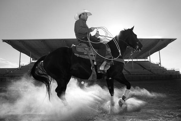 A Local Man in the Sheridan WYO Rodeo
