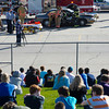 """Sheridan High School students watch the mock motor vehicle accident """"Last Call"""" from the hillside on Friday. The mock MVA is designed to show the consequences of driving under the influence."""