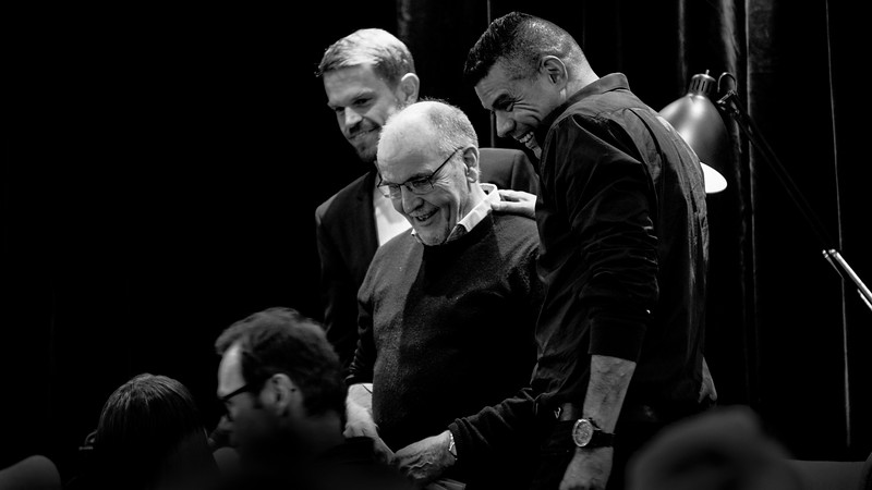 Vincent F. Hendricks og  Svend Brinkmann i paneldebat med Lasse Jensen
