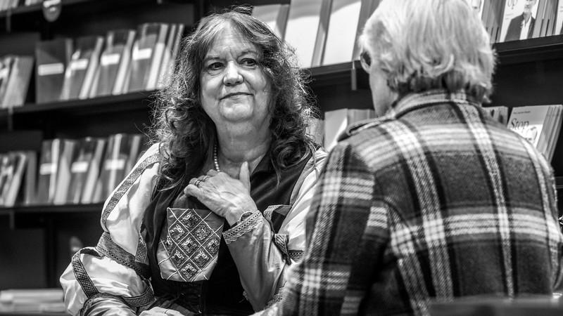 Maria Helleberg i samtale med læser