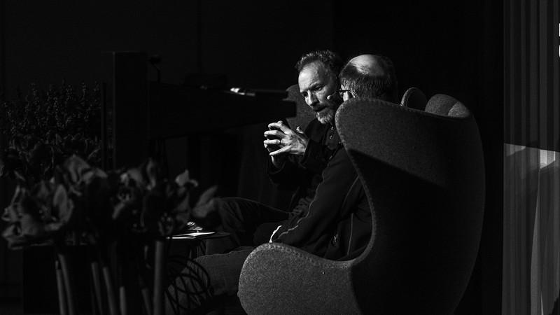 Jón Kalman Stefánsson i samtale med sin danske oversætter