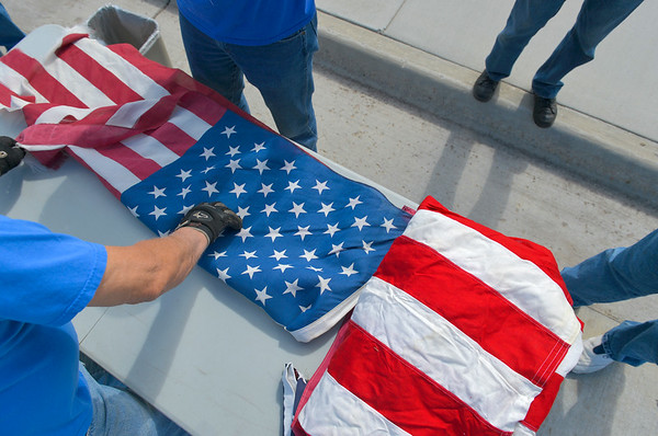 Flags Honorably Retired in Sheridan