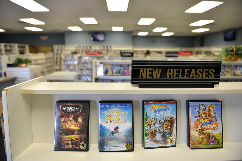 Justin Sheely | The Sheridan Press<br /> Movies are displayed at the Video Depot Wednesday, March 21, 2018. The Video Depot on Coffeen Avenue is closing after more than 19 years of business in Sheridan.