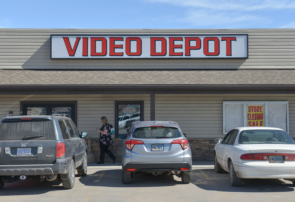 Justin Sheely | The Sheridan Press<br /> The Video Depot on Coffeen Avenue is closing after more than 19 years of business in Sheridan.