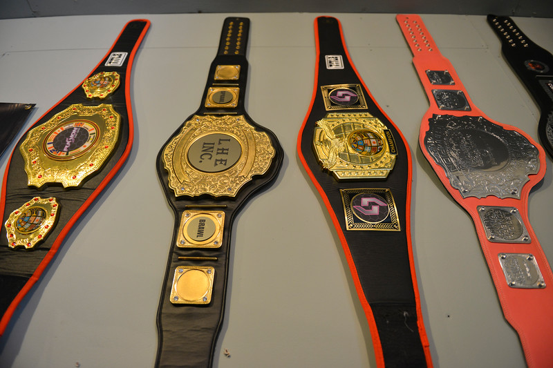 Justin Sheely | The Sheridan Press<br /> Amature MMA fighter Nekah Dmitriyeva has her titles displayed in the sparring room at Valdez's home Tuesday, June 5, 2018. Dmitriyeva and her coach are hoping to go pro after a MMA championship in Denver, Colorado, at the end of June.