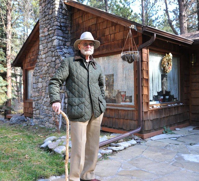 Ryan Patterson | The Sheridan Press<br /> Charles Neelley stands in front of his home in Story Wednesday, Oct. 24, 2018. Neelley served in the Navy from 1953-83 and has lived in Wyoming since 1992.