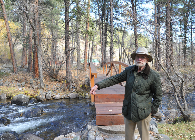 Ryan Patterson | The Sheridan Press<br /> Charles Neelley stands in his backyard in Story Wednesday, Oct. 24, 2018. Neelley served in the Navy from 1953-83 and has lived in Wyoming since 1992.