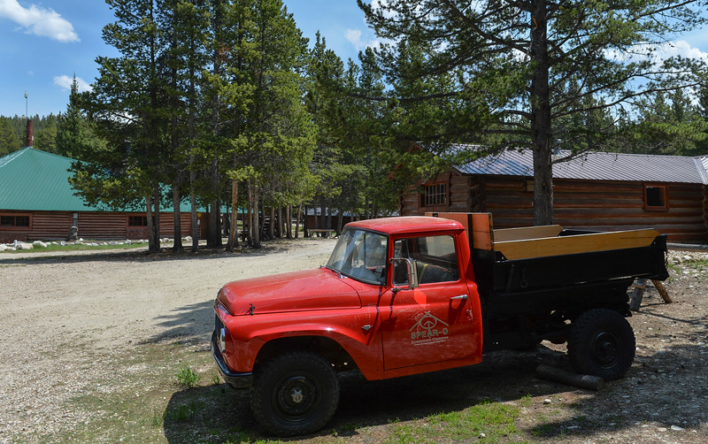 Justin Sheely | The Sheridan Press<br /> An old ranch truck is parked at Spear-O Wigwam in the Bighorn National Forest Thursday, June 28, 2018. The NWCCD board approved the potential sale on June 20 of Spear-O Wigwam, a 67,850-acre area in the Bighorn Mountains. The college leased the property since 2011 and used it for summer education programs and performances.