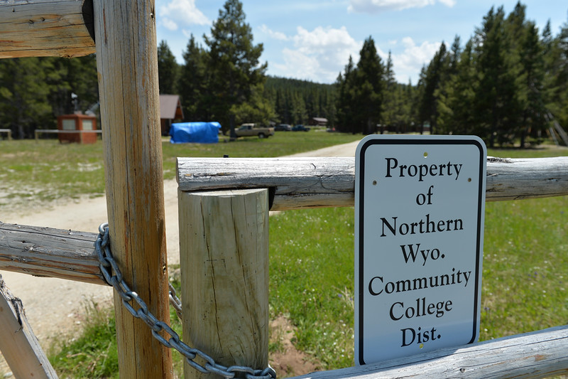 Justin Sheely | The Sheridan Press<br /> The gate at Spear-O Wigwam remains locked in the Bighorn National Forest Thursday, June 28, 2018. The NWCCD board approved the potential sale on June 20 of Spear-O Wigwam, a 67,850-acre area in the Bighorn Mountains. The college leased the property since 2011 and used it for summer education programs and performances.