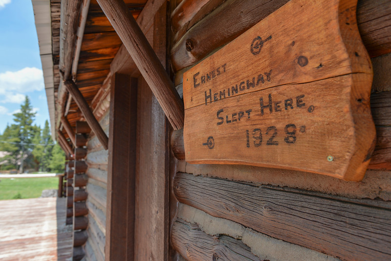 Justin Sheely | The Sheridan Press<br /> The cabin that hosted Ernest Hemingway is located at Spear-O Wigwam in the Bighorn National Forest Thursday, June 28, 2018. The NWCCD board approved the potential sale on June 20 of Spear-O Wigwam, a 67,850-acre area in the Bighorn Mountains. The college leased the property since 2011 and used it for summer education programs and performances.