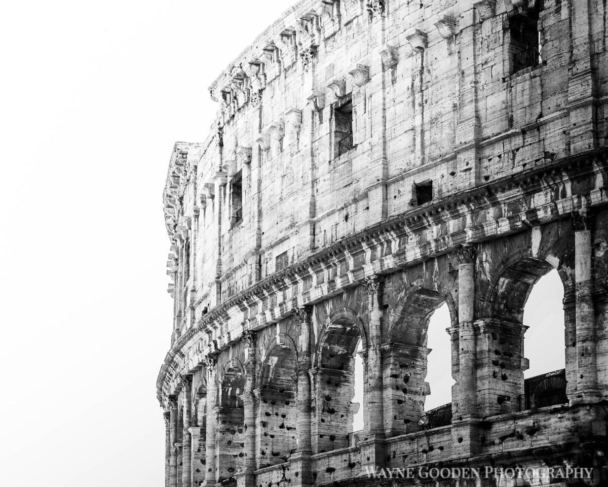 Rome Colosseum Black and White