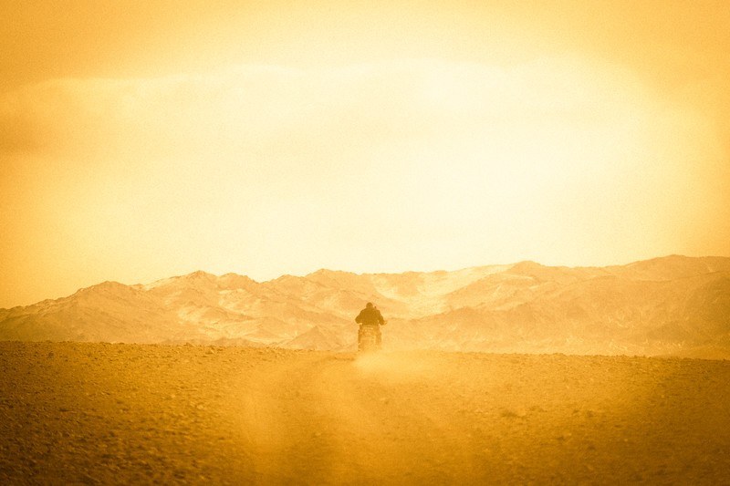 Riding into the steppe.  Bayan-Ulgii, Mongolia.
