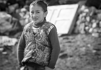 Nomad daughter, Bayan-Ulgii, Mongolia.