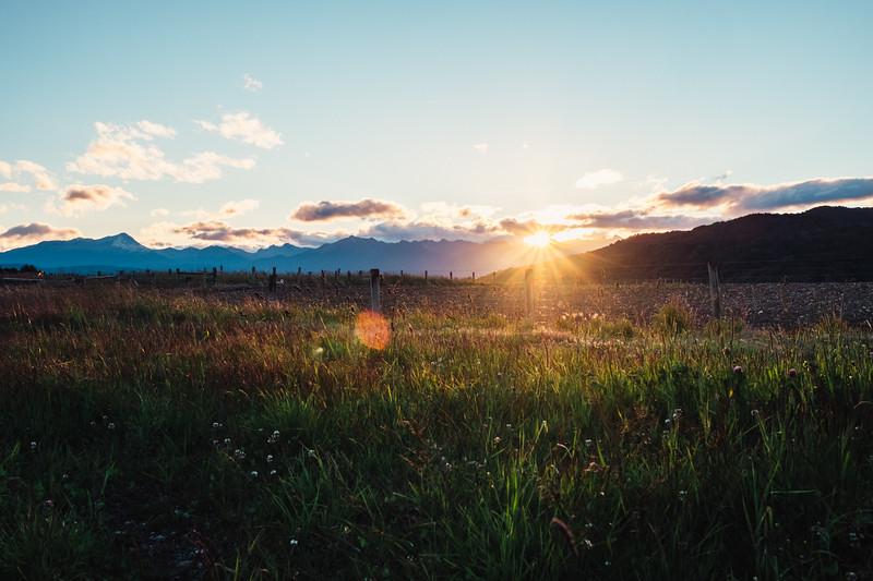 Sunset in Te Anau