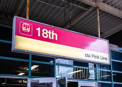 18th Street CTA Pink Line Station