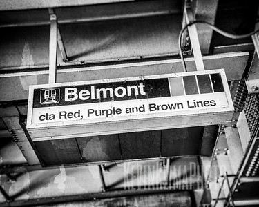 Belmont CTA Sign
