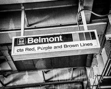 Belmont CTA Sign