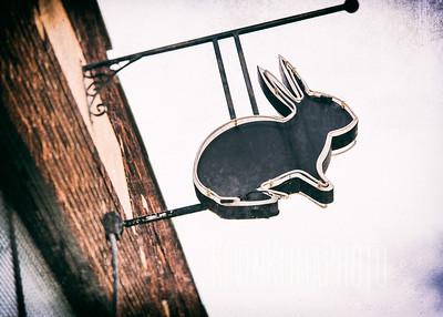 Black Rabbit Sign