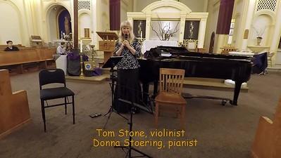 """L.v.Beethoven        """"Spring Sonata"""" Op. 24 for Violin and Piano   Allegro  Adagio molto espressivo    Tom Stone, violin  and Donna Stoering, piano"""