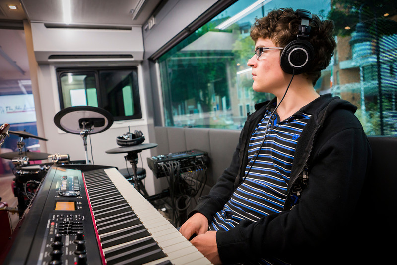 2013_08_07, Dublin, Ireland, Student Recording Session, Student Session, Music Generation, lennonbus.org, eu.lb.org, JLETB, The National Concert Hall, EU, Roland