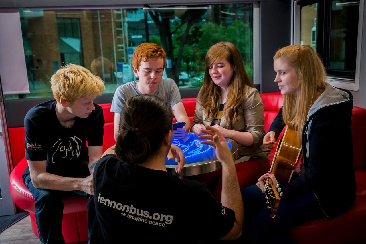 2013_08_07, Dublin, Ireland, Student Recording Session, Student Session, Music Generation, lennonbus.org, eu.lb.org, JLETB, The National Concert Hall, EU, Apple, Pietro Rossi, Gibson, Epiphone