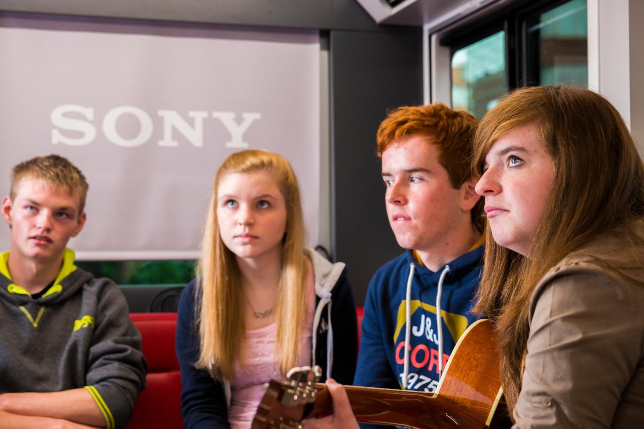 2013_08_07, Dublin, Ireland, Student Recording Session, Student Session, Music Generation, lennonbus.org, eu.lb.org, JLETB, The National Concert Hall, EU, Sony