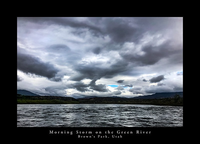 Early morning storm clouds over the Green River in Brown's Park, Utah.