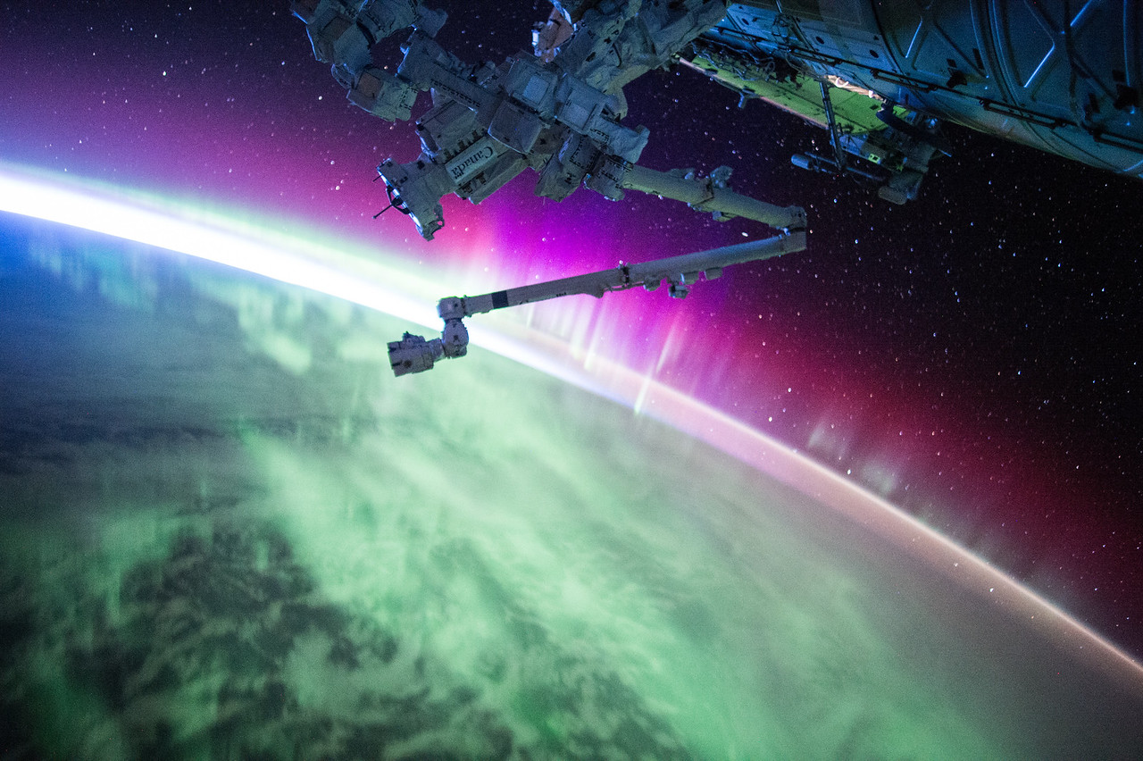 Another pass through #Aurora. The sun is very active today, apparently. #YearInSpace